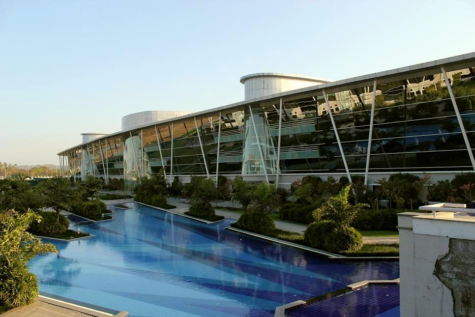 A sneek peek inside infosys office chandigarh campus - Cost of building a swimming pool in india ...