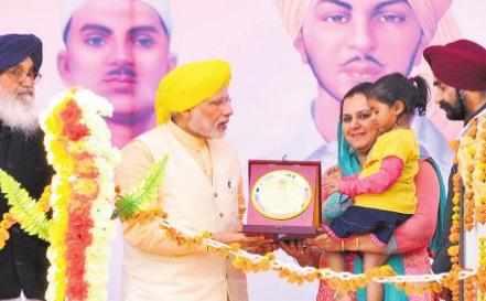 Narendra-Modi-punjab-bhagat-singh-niece