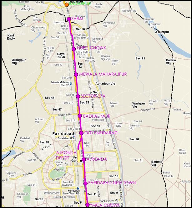 Faridabad-Metro-Map