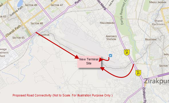 chandigarh-international-airport-map