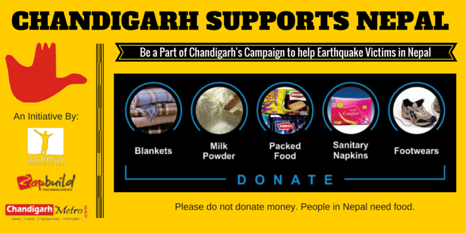 chandigarh-supports-nepal-earhquake-relief