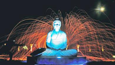 buddha-statue-sukhna-lake-chandigarh