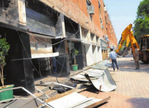 Anti-encroachment-drive-sector-17-chandigarh