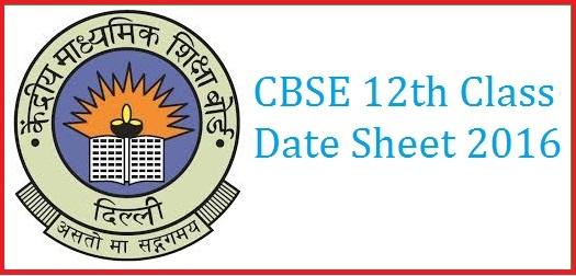 CBSE-12th-Class-Date-Sheet-2016