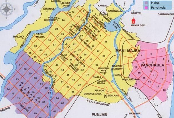 Panchkula City Map