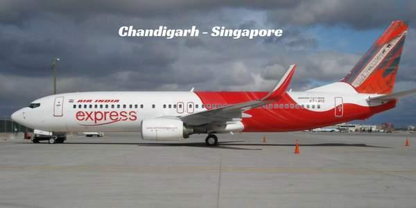 Chandigarh-Singapore-flight