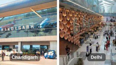 Chandigarh-Delhi-airport
