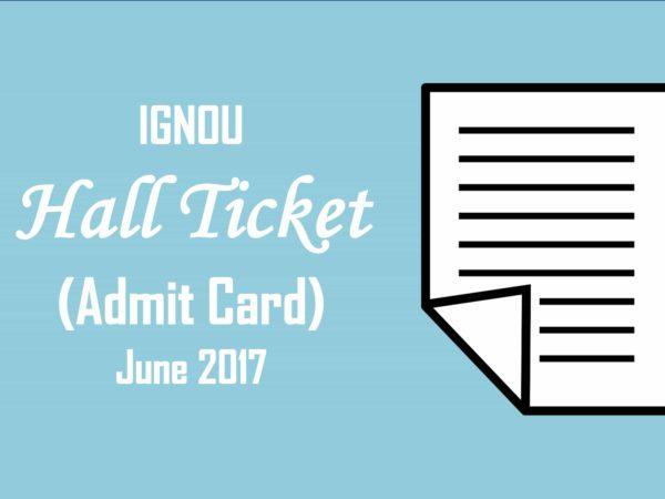 IGNOU-Hall-Ticket-June-2017