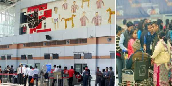 chandigarh-airport -crowd