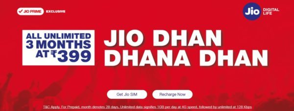 Jio 4G Dhan Dhana Dhan Plan Will Continue for Next 3 ...
